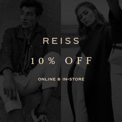 Reiss 10% off in store and online