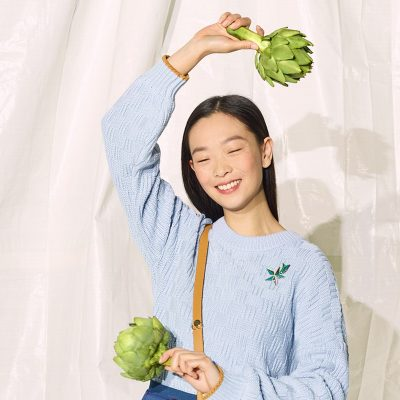 Ted Baker - girl holding cabbage
