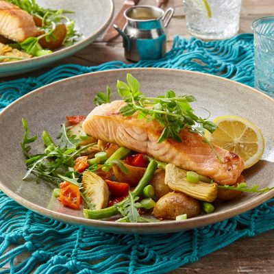 Zizzi salmon dinner