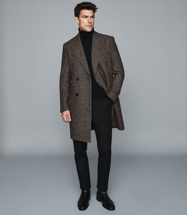 Reiss Princes Square double-breasted jacket check