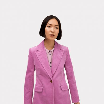 Image for Dressing up blog, shows woman in purple coat
